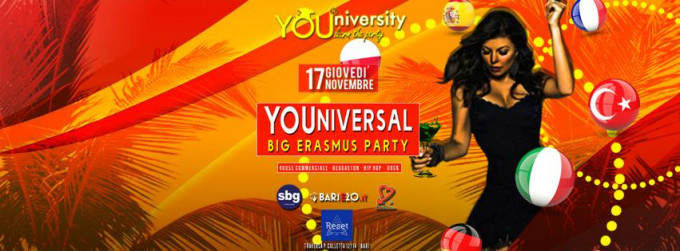 Giovedì 17 Nov *YOUniversity - Big Erasmus Party* Reset Club