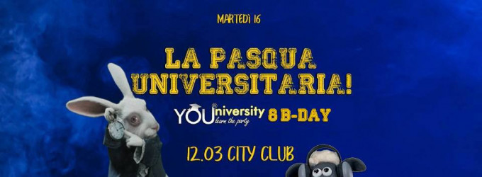 Mart 16 Apr YOUniversity - La Pasqua Universitaria - 12.03 Club!